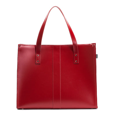 Red Leather Shopper