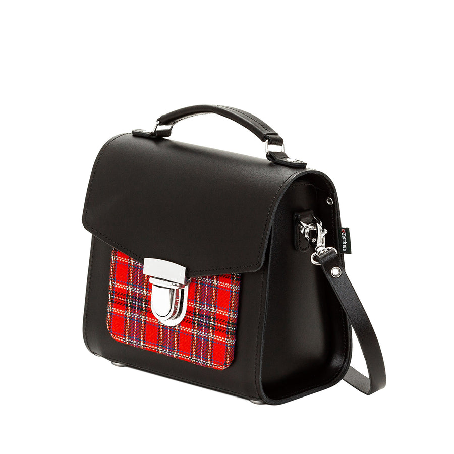 Red Tartan Leather Sugarcube - Sugarcube - Zatchels