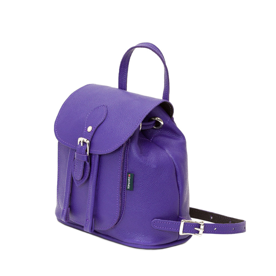 Ultra Violet Leather Backpack - Backpack - Zatchels