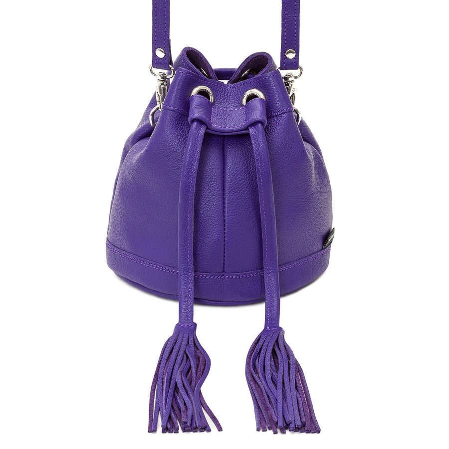 Ultra Violet Leather Bucket Bag