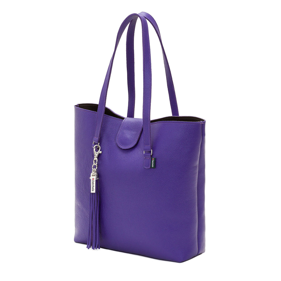 Ultra Violet Leather Tote Bag - Tote - Zatchels