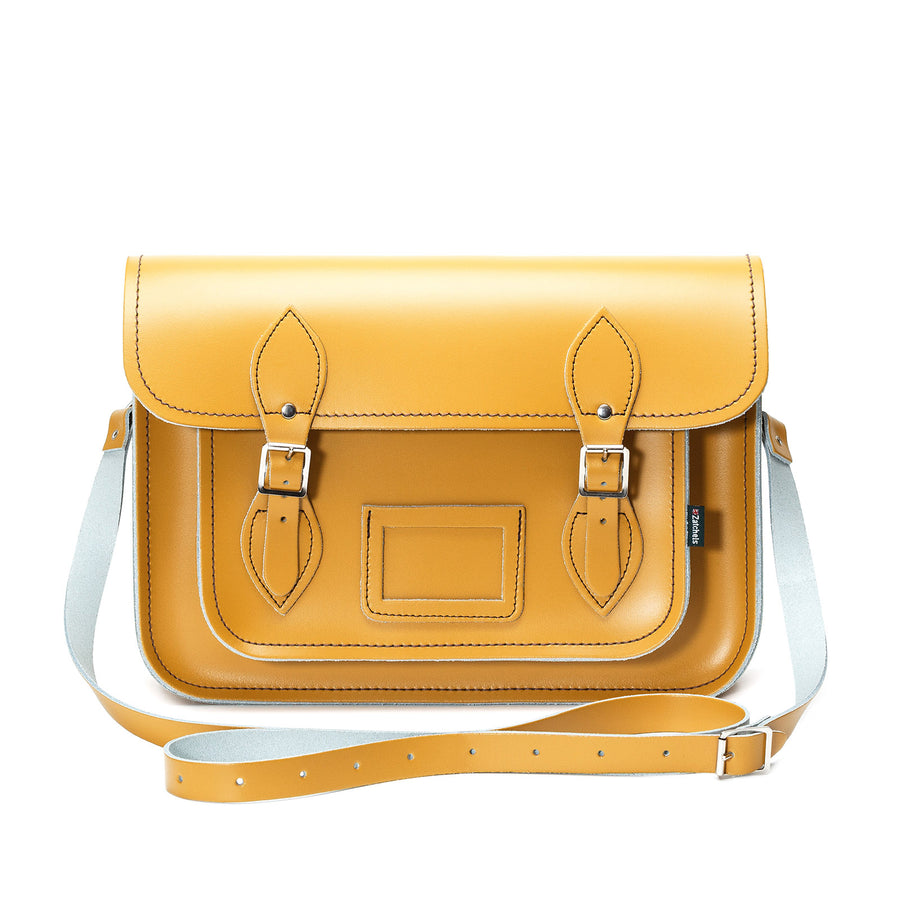 Yellow Ochre Leather Satchel