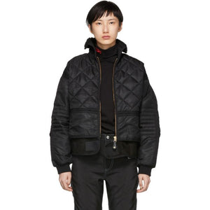 032c Black Cosmo Bomber Jacket-BlackSkinny