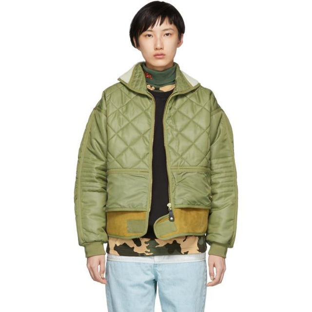 032c Green Cosmo Bomber Jacket-BlackSkinny
