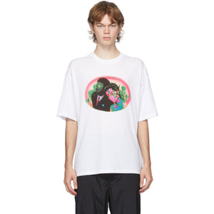 Opening Ceremony White Figures Print T-Shirt