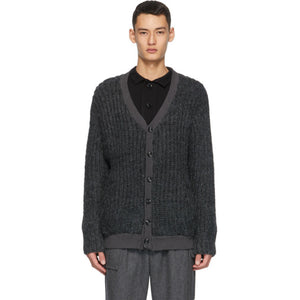 Winnie New York Grey Wool Cardigan