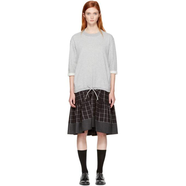 3.1 Phillip Lim Grey French Terry Combo Dress-BLACKSKINNY.COM