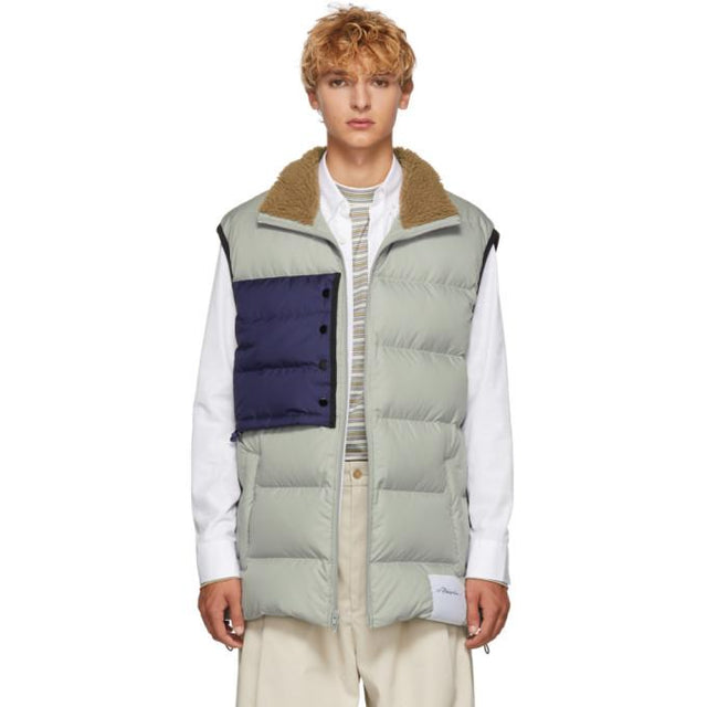 3.1 Phillip Lim Grey Oversized Down Vest-BlackSkinny