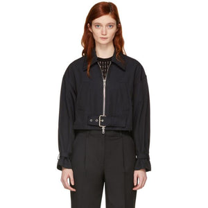3.1 Phillip Lim Navy Utility Belted Jacket-BlackSkinny