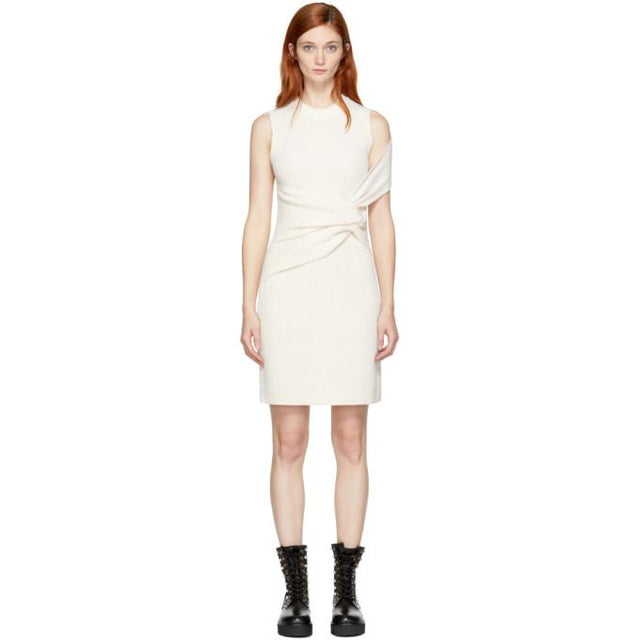 3.1 Phillip Lim Off-White Draped Twist Dress-BLACKSKINNY.COM