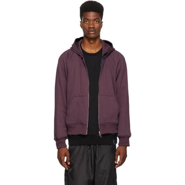 3.1 Phillip Lim Reversible Purple Hoodie Jacket-BlackSkinny