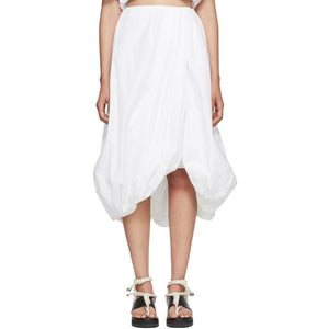 3.1 Phillip Lim White Draped Bubble Skirt-BLACKSKINNY.COM