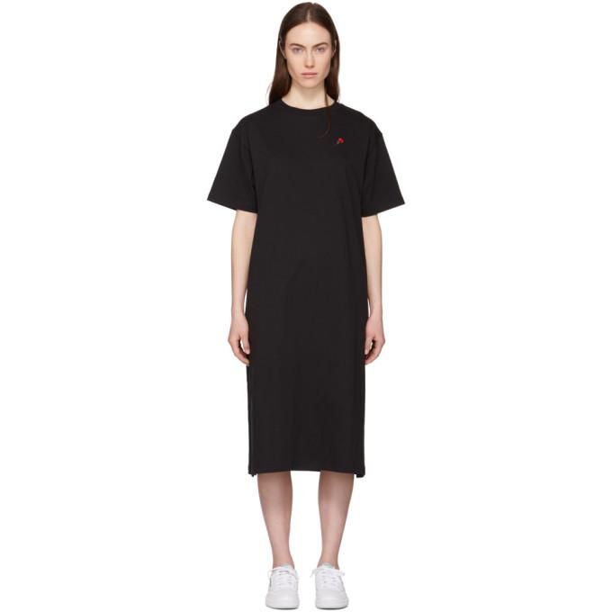 6397 Black Rose T-Shirt Dress-BLACKSKINNY.COM