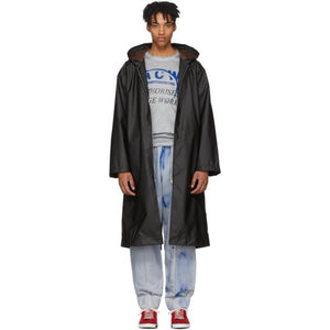 A-Cold-Wall* Black Nylon Raincoat-BlackSkinny