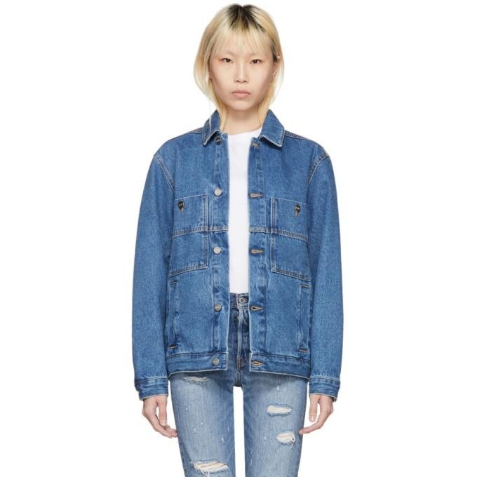 Études Blue Denim Guest Jacket-BlackSkinny
