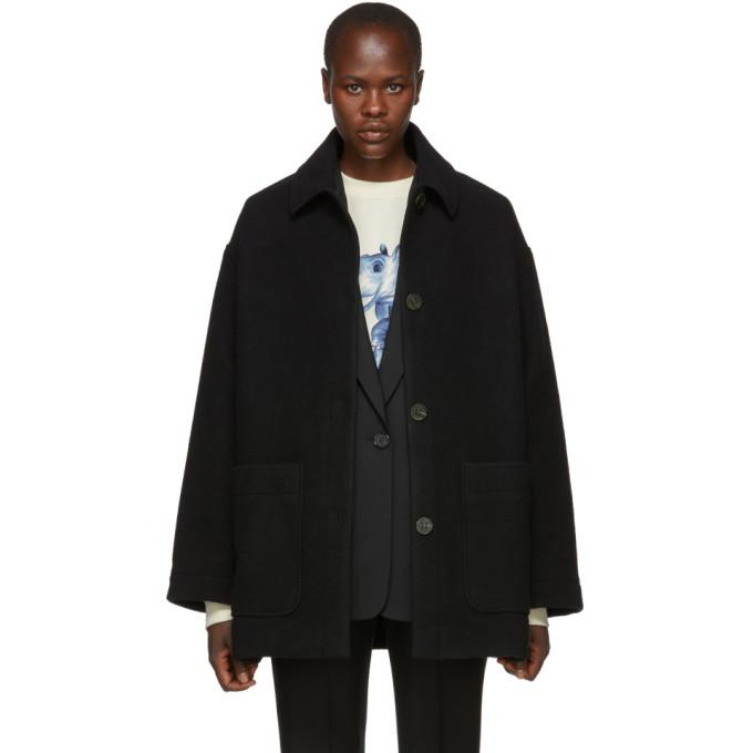 Acne Studios Black Four-Button Coat-BlackSkinny