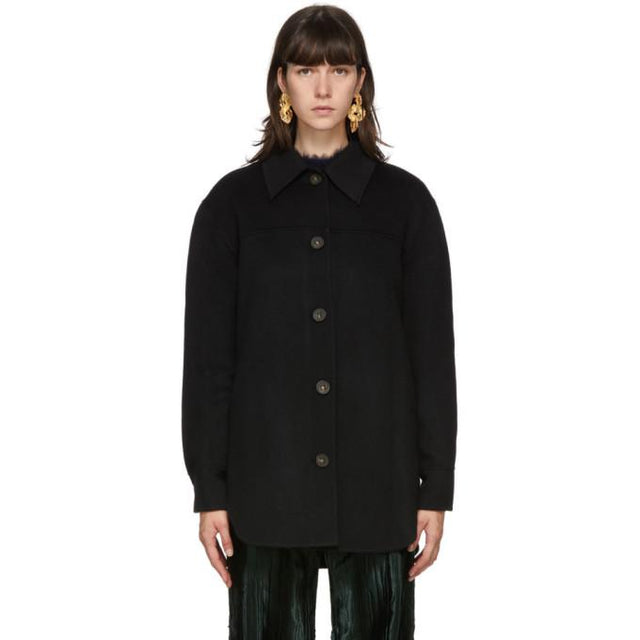 Acne Studios Black Wool Over Shirt Jacket