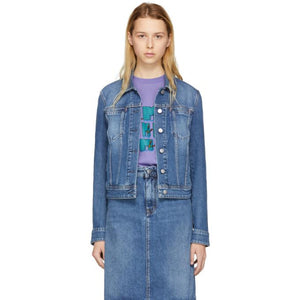 Acne Studios Blå Konst Blue Denim Cliff Jacket-BlackSkinny