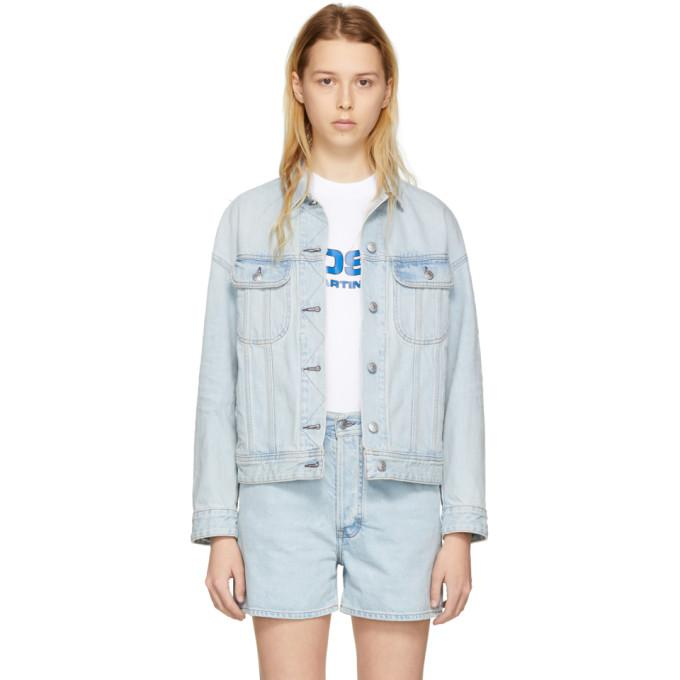 Acne Studios Blå Konst Blue Denim Lamp Jacket-BlackSkinny
