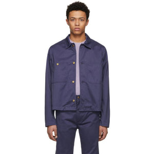Acne Studios Blå Konst Blue Unreal Jacket-BlackSkinny