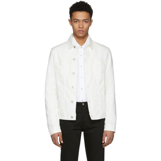 Acne Studios Blå Konst White Pass Denim Jacket-BlackSkinny