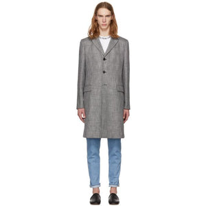 Acne Studios Grey Check Mawin Prince Coat-BlackSkinny