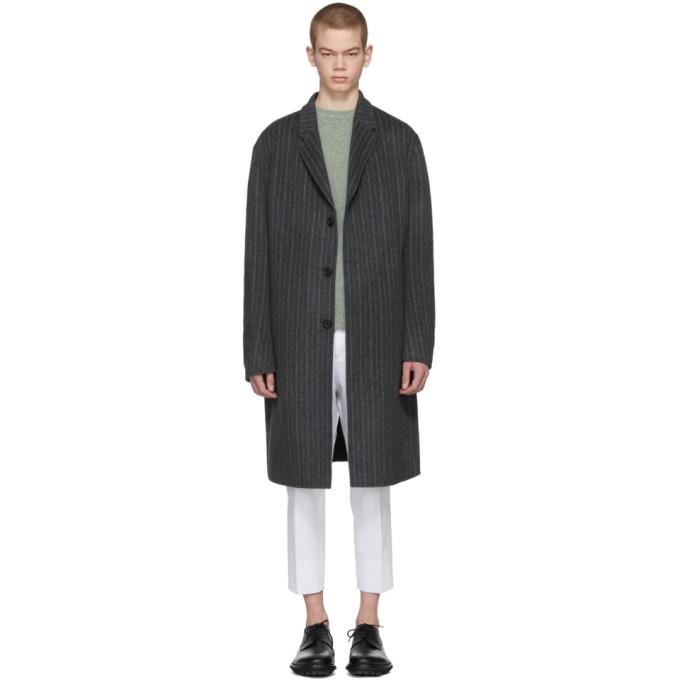 Acne Studios Grey Striped Chad Coat-BlackSkinny