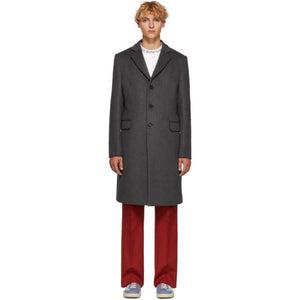 Acne Studios Grey Wool Gavin Coat-BlackSkinny