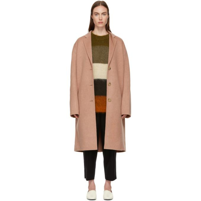 Acne Studios Pink Avalon Coat-BlackSkinny