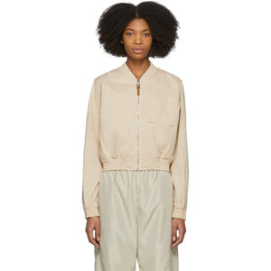 Acne Studios Pink Azru Cotton Chino Bomber Jacket-BlackSkinny