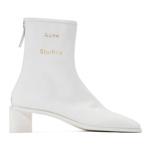 Acne Studios SSENSE Exclusive White Branded Heeled Boots