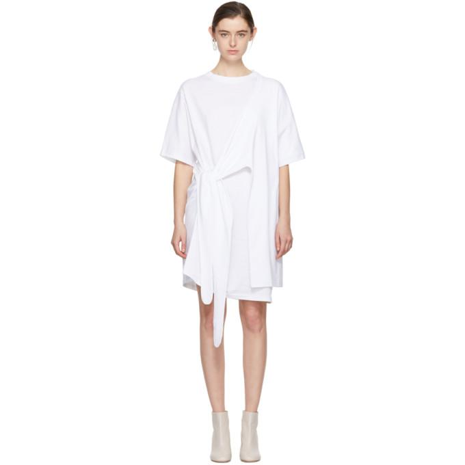 Acne Studios White Lylia T-Shirt Dress-BLACKSKINNY.COM