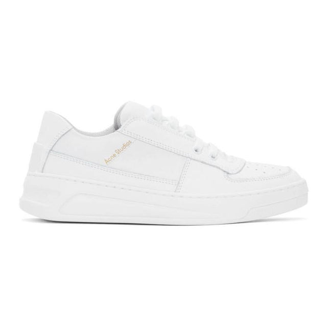 Acne Studios White Steffey Lace-Up Sneakers