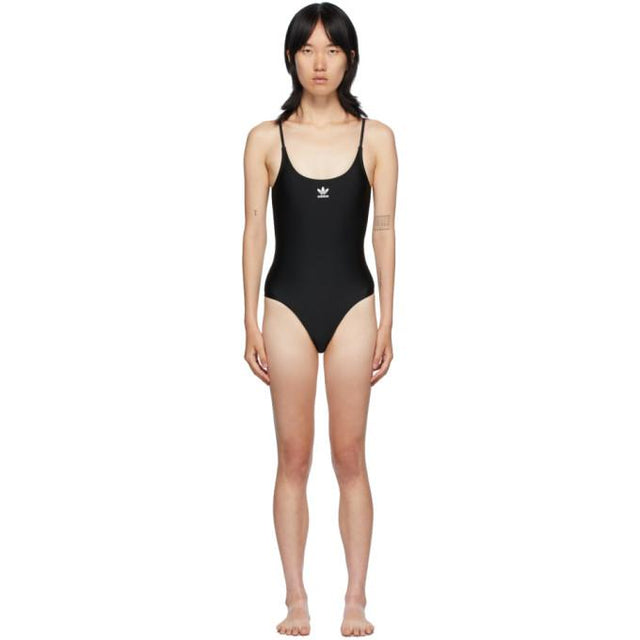 adidas Originals Black Large Trefoil One-Piece Swim Suit