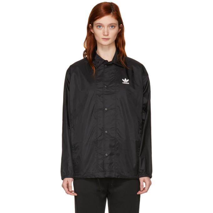 adidas Originals Black Trefoil Coach Jacket-BlackSkinny