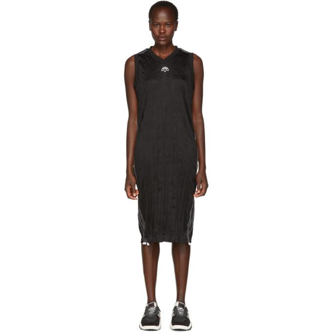 adidas Originals by Alexander Wang Black Track Tank Dress-BLACKSKINNY.COM