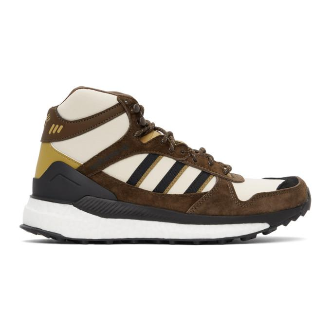 adidas x Human Made Brown and Off-White Marathon Sneakers