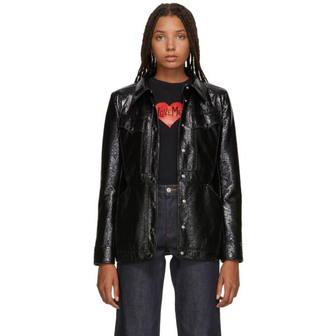 Alexachung Black Shiny Patch Pocket Jacket-Jackets & Coats-BLACKSKINNY.COM