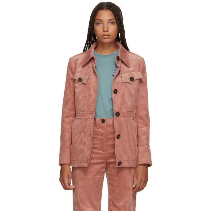 Alexachung Pink Patch Pocket Jacket-Jackets & Coats-BLACKSKINNY.COM