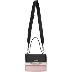 Alexander McQueen Black and Pink The Story Bag