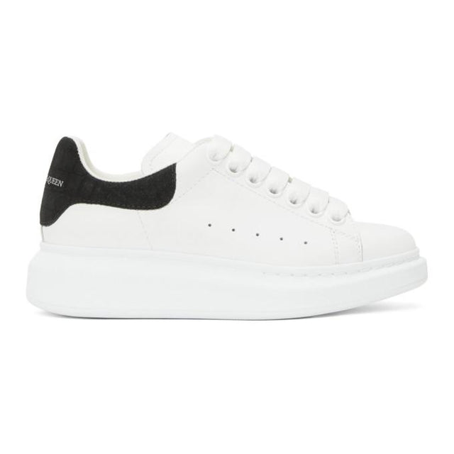 Alexander McQueen White and Black Snake Oversized Sneakers