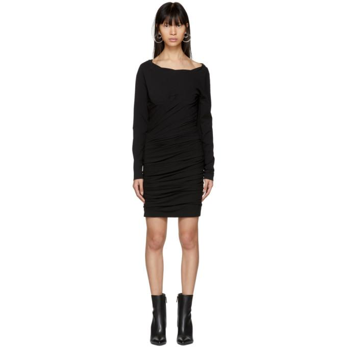 Alexander Wang Black Constructed Corset Mini Dress-BLACKSKINNY.COM