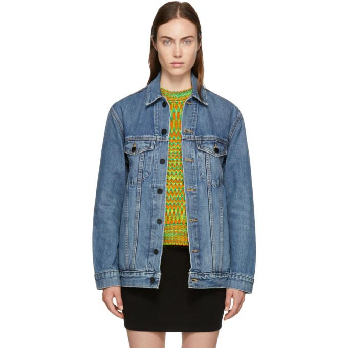 Alexander Wang Indigo Oversized Denim Daze Jacket-BlackSkinny