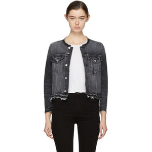Amo Black Denim Lola Jacket-Jackets & Coats-BLACKSKINNY.COM