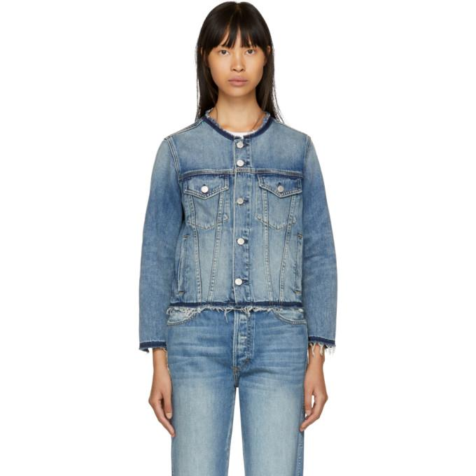 Amo Blue Lola Denim Jacket-Jackets & Coats-BLACKSKINNY.COM