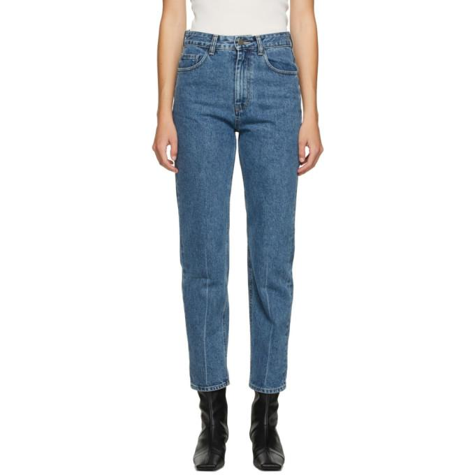 AMOMENTO Blue Regular High Rise Jeans