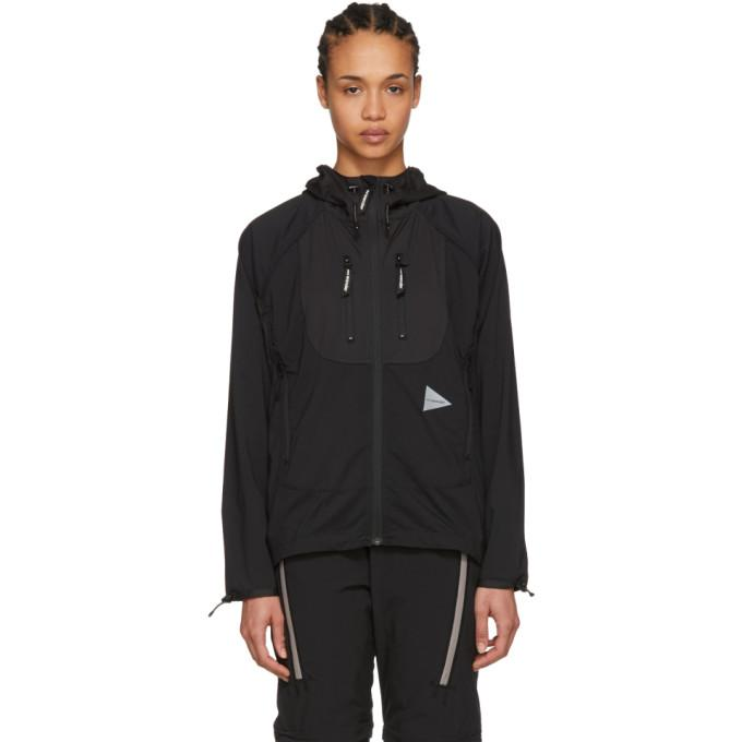 and Wander Black Trek Hooded Jacket-BlackSkinny