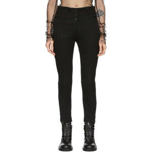 Ann Demeulemeester Black Seam Detail Trousers