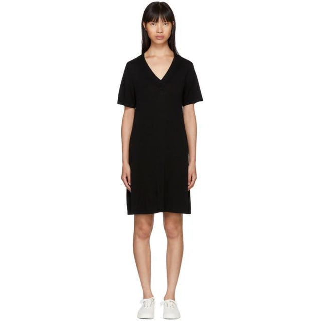 A.P.C. Black Jen Dress-BLACKSKINNY.COM