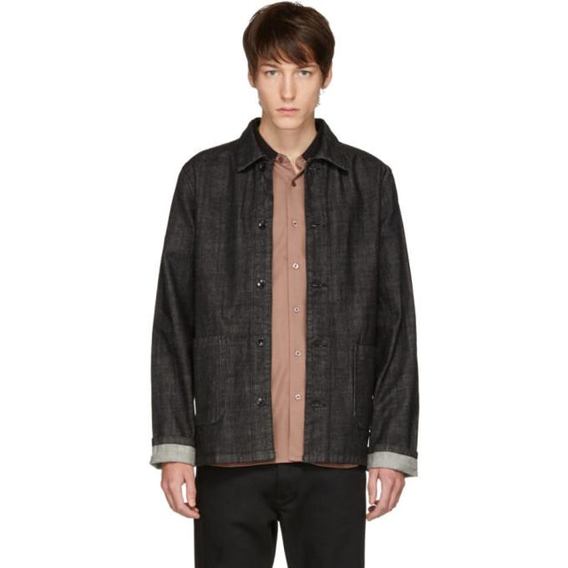 A.P.C. Black Kerlouan Denim Jacket-BlackSkinny
